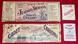Original B.B. crayon boxes from the collection...