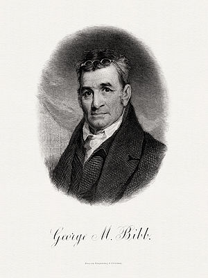 George M. Bibb - Bureau of Engraving and Printing portrait of Bibb as Secretary of the Treasury.