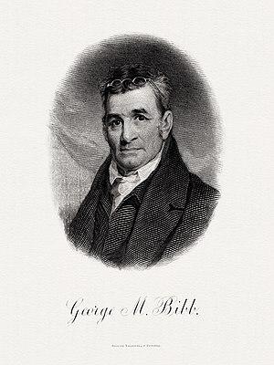 George M. Bibb - Bureau of Engraving and Printing portrait of Bibb as Secretary of the Treasury.
