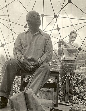 Black Mountain College - Buckminster Fuller at Black Mountain College in 1949