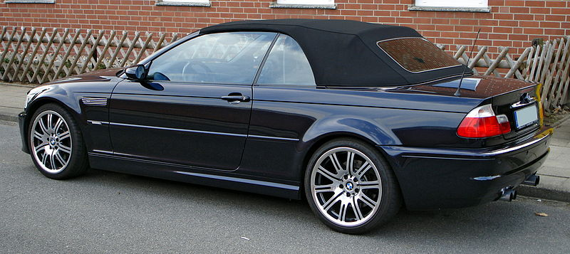 [IMG]http://upload.wikimedia.org/wikipedia/commons/thumb/2/26/BMW_M3_E46_Cabrio_side.JPG/800px-BMW_M3_E46_Cabrio_side.JPG[/IMG]