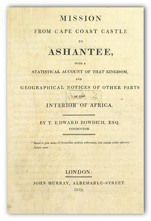 Thomas Edward Bowdich - Title page