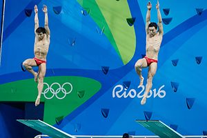 Qin Kai (diver) - Cao Yuan and Qin Kai at the 2016 Olympics