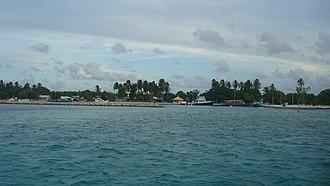 Goidhoo (Baa Atoll) - Goidhoo Harbor, When entering Goidhoo
