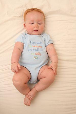 Infant bodysuit - Infant wearing a bodysuit
