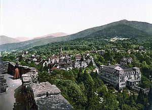 Blauen (Badenweiler) - The Hochblauen as seen from Badenweiler on an old postcard (ca. 1900)