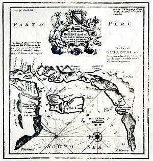 John Clipperton - Bahia of Guayaquil on the Spanish Main, as seen by Clipperton