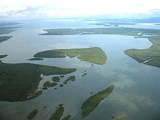 Ecological station (Brazil) - Ilha do Sambaqui. Guaraqueçaba Bay