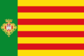 Bandera de Castelló de la Plana con escudo.png