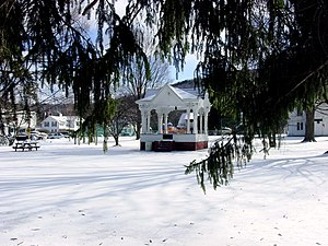 New Milford, Pennsylvania - Image: Bandstand in March panoramio