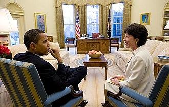 Susan Collins - Collins with President Barack Obama