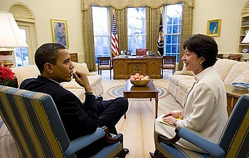 English: Senator Susan Collins (R-ME) meets wi...