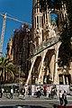 Barcelona - Plaça de la Sagrada Família - View NE on La Sagrada Família - Passion façade I.jpg