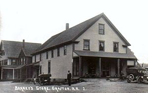 Grafton, New Hampshire - In continuous operation since the 1840s, this store is now known as the Grafton Country Store. Image c. 1919.