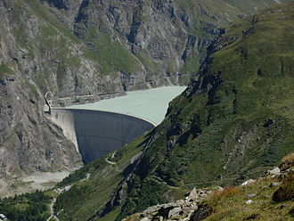 Bagnes - Lac de Mauvoisin and dam in Bagnes municipality