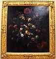 Bartolomeo bimbi, paniere di fiori con melagrane e susine sul piano.JPG