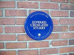Photo of Edward Crosland Stuart blue plaque