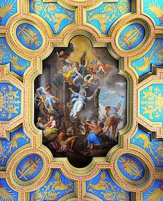Sant'Anastasia al Palatino - Ceiling, with the 1722 fresco by Michelangelo Cerruti