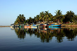 Fishing boats on Batticaloa Lagoon