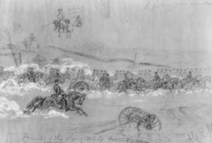 Battle of Yorktown, Pursuit sketch.png