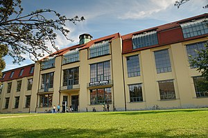 Bauhaus University, Weimar - The main building of the Bauhaus-Universität (built 1904–1911, designed by Henry van de Velde to house the sculptors' studio at the Grand Ducal Saxon Art School. Designated as a UNESCO World Heritage Site in 1996).