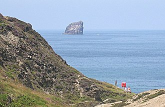 St Agnes, Cornwall - Bawden Rocks from Trevellas Coombe