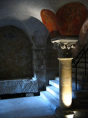 crypt in the cathedral of Bayeux