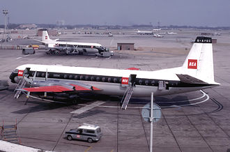 Vickers Vanguard - Two Vickers Vanguards at London Heathrow Airport in 1965.