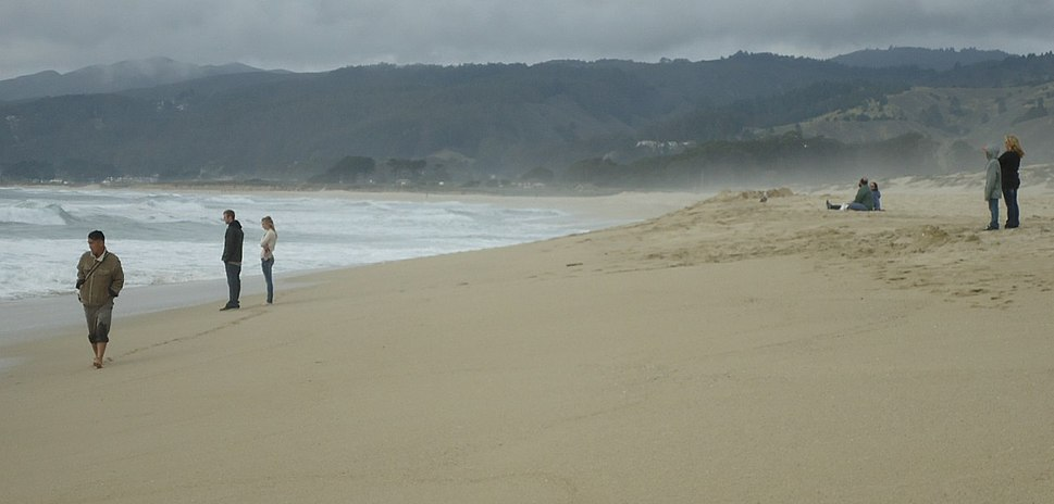 Beachgoers at Francis Beach in California