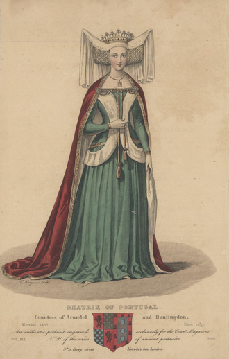 Beatrice, Countess of Arundel - Beatrice of Portugal, Countess of Arundel