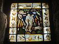 Beauvais (60), église Saint-Étienne, « Adam et Eve chassés du Paradis », vitrail (miniature) par Albrecht Dürer.JPG