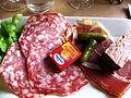 Bellegarde Saucisse sèche et saucisson de Lacaune.JPG