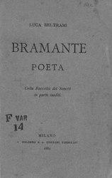 Luca Beltrami: Bramante poeta