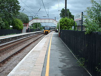 Ben Rhydding railway station - Platform 1.
