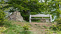 Bench and stone, Grosser Burgberg, Bad Harzburg, Lower Saxony, Germany, 2015-05-16-5179.jpg