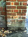 Benchmark on wall pillar at junction of Park Road and Park Crescent - geograph.org.uk - 2094286.jpg