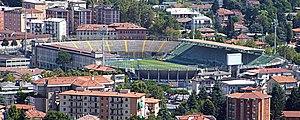 Stadio Atleti Azzurri d'Italia - Image: Bergamo stadio dalla Rocca