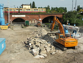Berlin S-Bahn - Demolition of the Ostkreuz southern curve in 2008