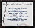 Berliner Gedenktafel Pistoriusstr 24 (Weißs) Carl James Bühring.jpg