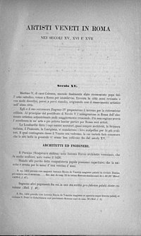 Bertolotti, Antonino – Artisti veneti in Roma nei secoli 15°, 16° e 17° , 1884 – BEIC 1140622.jpg