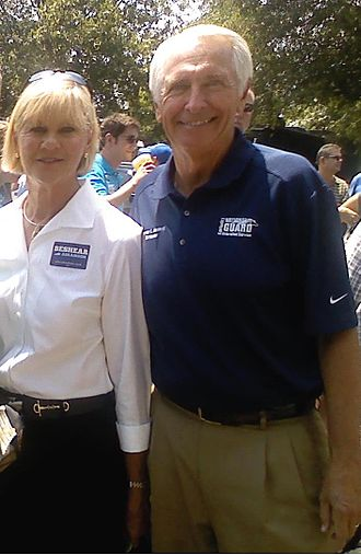 Steve Beshear - Governor Beshear and his wife, Jane, at Fancy Farm 2011