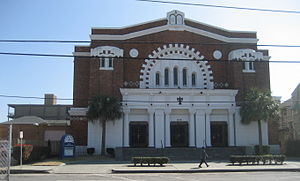 Congregation Beth Israel (New Orleans) - Beth Israel synagogue building on Carondelet St.