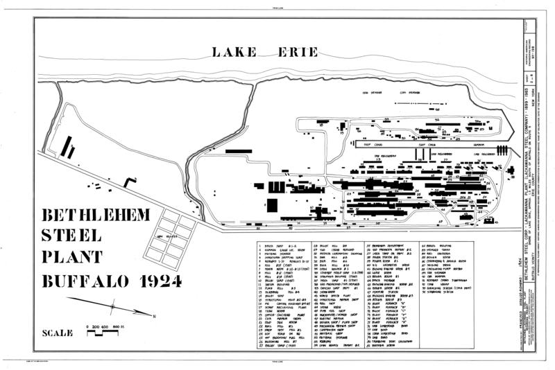 Map United States Steel Mills: File:Bethlehem Steel Plant Buffalo 1924