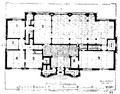 Biblioteksbyggnader, Plan af bottenvåningen i Göteborgs stadsbibliotek, Nordisk familjebok.png