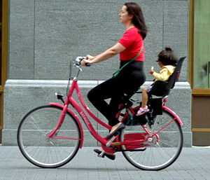 Children's bicycle seat - Typical use
