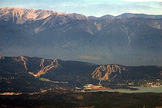 San Bernardino Mountains - The range seen looking south from the Big Bear Valley