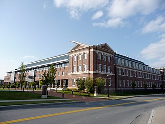 Center for Biotechnology and Interdisciplinary Studies - Front entrance viewed from across 15th street
