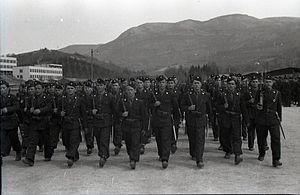 Black Legion (Ustaše militia) - Soldiers of the Black Legion in Sarajevo (April 7, 1942)