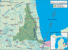 A map of the Black River and its watershed