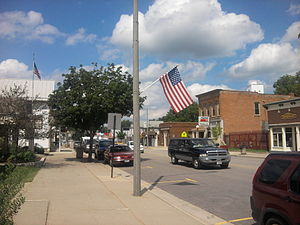 Black Earth, Wisconsin - View from street of Black Earth